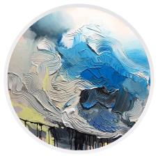 "I am in the light - Acrylic on Canvas 36"" Diameter SOLD"