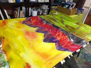 silk work