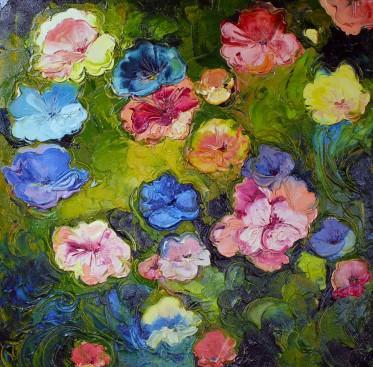 """Oil on Canvas  30"""" x 30""""  2000.00  Framed"""