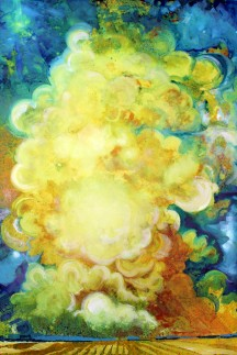 "Cerulean Sky Acrylic on Terraskin 19"" x 28"""