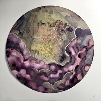 """Acrylic on Terraskin - framed 24"""" x 24"""""""