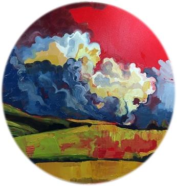"The World's Greatest Acrylic on Canvas 40"" Diameter 3000.00"