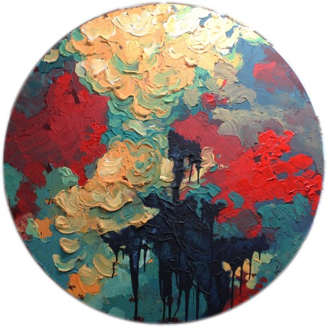 "The Lily Pad Acrylic on Canvas 40"" Diameter - SOLD"