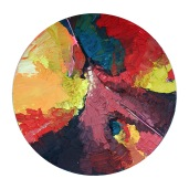 """Terraced Ground Acrylic on Canvas 40"""" Diameter SOLD"""