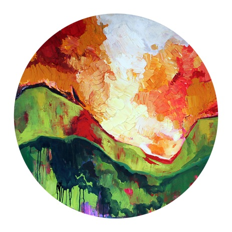 """I am, Because of you - Acrylic on Canvas 48"""" Diameter 4800.00"""