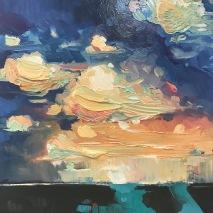 "The vestiges of us - Acrylic on birch panel 30"" x 30"" 1800.00"