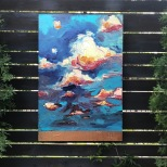 "Cloud formations - Acrylic on Panel 24"" x 36"" SOLD"