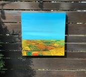 "Prairie Fall - Acrylic on Panel 20"" x 20"" 750.00"