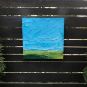 """I am grass - Acrylic on Panel 20"""" x 20"""" SOLD"""