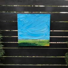 "I am grass - Acrylic on Panel 20"" x 20"" SOLD"