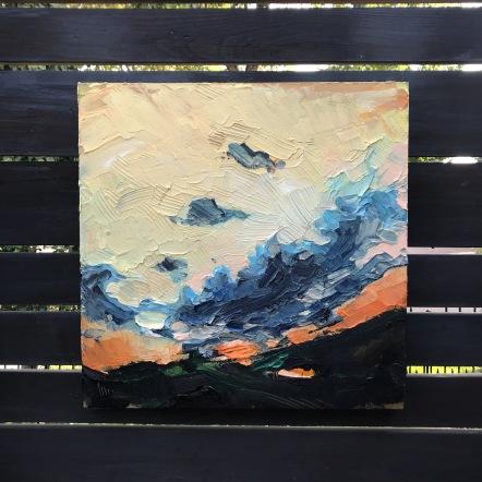 "I am dusk - Acrylic on Panel 20"" x 20"" 750.00 (Available at Adele Campbell Fine Art)"