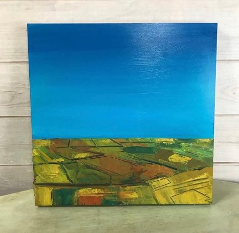 """Prairie Fall"" Acrylic on Birch Panel 20"" x 20"" 750.00"