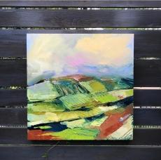"Spring Light - Acrylic on Birch Panel 20"" x 20"" 750.00"