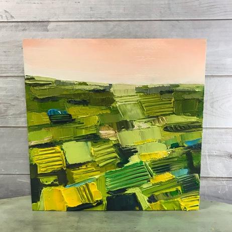 "Summer Season - Acrylic on Birch Panel 20"" x 20"" 750.00"