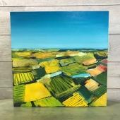 "Quiltwork - Acrylic on Birch Panel 20"" x 20"" 750.00"