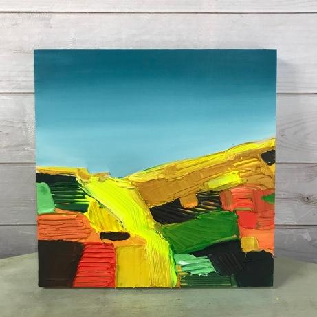 "Early Fall light - Acrylic on Birch Panel 20"" x 20"" 750.00"