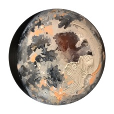 "Luminescent - Acrylic on Birch Panel 24"" Diameter (Currently available at Adele Campbell Fine Art)"